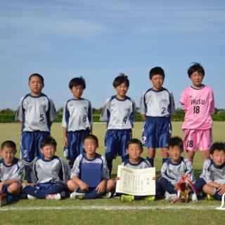 第9回U-11チャリティーサッカー大会3位息栖