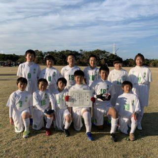 6年生チーム、神栖市長杯3位パート3位。
